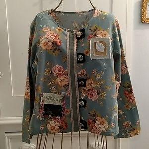 Funky floral jacket Sz M